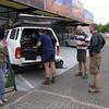 Picking up the car at Savannah Auto Rental in Windhoek