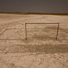 A soccer field in the middle of nowhere.