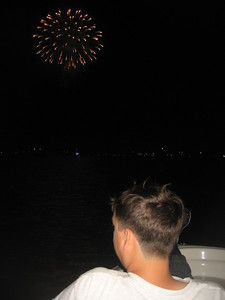 Captain Raf enjoys the fireworks