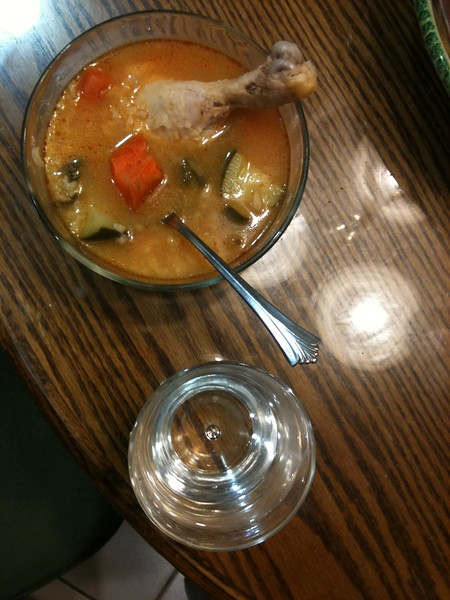 <b>chicken soup and water</b> <br>Daly City, CA <br>October 26, 2010