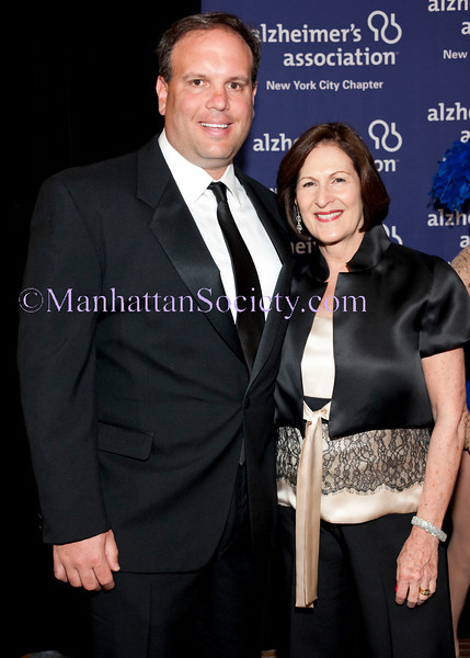 """NEW YORK-JUNE 7: Mike D. Tannenbaum (General Manager, NY Jets), Lou-Ellen Barkan (President, CEO of Alzheimers Association of NYC Chapter) attend  ALZHEIMER'S ASSOCIATION, NEW YORK CITY CHAPTER ANNUAL """"FORGET-ME-NOT"""" GALA on Monday, June 7, 2010 at The Pierre Hotel, 2 East 61st Street at Fifth Avenue, New York City, NY (PHOTO CREDIT: ©Manhattan Society.com 2010 by Christopher London)"""