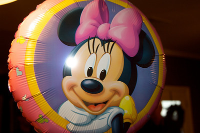 Anna was so proud of her Minnie Mouse balloon that Granny & PawPaw picked up for her