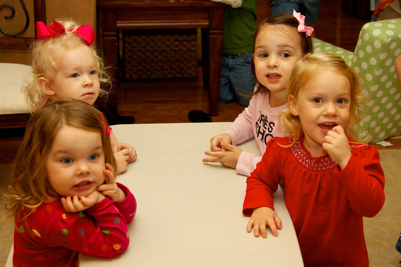 Girls patiently waiting for cupcake time