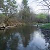 The Rush River in WI - Nicole hat gerade eine dicke Forelle verloren...