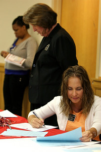 Career Services hosts an event in Ritch Banquet Hall, April 2010.
