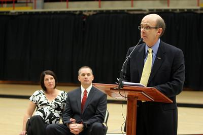 Chris Holtman named the new Men's Basketball Coach; April 22, 2010.