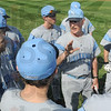 Coach: Chip Sweet talks with his players prior to Thursday's game against Hagerstown.