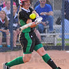 Help yourself: West Vigo pitcher Gina Furrey hits a homerun to put the Vikings ahead in the early going of their game with Terre Haute North.