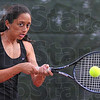 Familiar foe: Eesha Purohit played Sarah Potter at the #1 singles position Thursday evening.