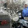 """Ford man: Terre Haute resident Ed Bean shows his 1929 Ford Model """"A"""" four-door Thursday evening in the Holiday Inn parking lot."""