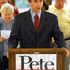 Announcement: Pete Buttigieg announces his run for State Treasurer at the Vigo Co. Courthouse rotunda Thursday afternoon.