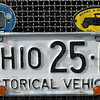 """Ford detail: A 1925 Ohio license plate adorns a Model """"A"""" Ford in the Holiday Inn parking lot Thursday afternoon."""