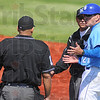 Right or wrong: ISU head baseball ocach Rick Heller discusses a ninth inning call with officials.