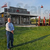 """Life-long dream: Jerry Yates stands in front of his """"Yates' Station"""" last week. He dreamed for years of having a place where friends could gather and after three years of construction, he finally had it."""