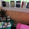 Recovery: Self help books line the window sill of a bedroom used for family visits. Five women from the Fellowship House have transfered to the Freebird facility.