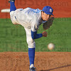 Heat: Indiana State's #17, Jake Petricka fires a pitch to the plate during game action against Wichita State Friday evening at Bob Warn Field. ISU won the game 2-0.