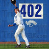 Long out: Indiana State's #13, Ryan Strausborger catches a long ball just short of the warning track during game action against Wichita State Friday evening at Bob Warn Field. The Sycamores won 2-0.
