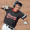 Rounder: Terre Haute South's #22, Jacob Hayes rounds third base and heads for home for an inside the park home run during game action Friday night.