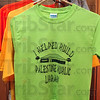 Tribune-Star/Joseph C. Garza<br /> Support your local librarian: Fundraising T-shirts hang from a coat rack in the Palestine, Ill., Public Library.