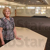 Tribune-Star/Joseph C. Garza<br /> A new home for the library: Sue Lockhart, director of the Palestine Public Library District, will soon have a new 5,300-square-foot structure to help serve the library patrons in around Palestine, Ill.