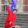 Is this your King?: Budd Aplin played the part of Pilate while Dustin Pruiett acted the part of a soldier. Christ was portrayed by Les Rivera.