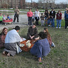 Last supper: Actors from several churches combined to put on several showings of the Passion Play at Fairbanks Park last week. The Senior Education Ministries sponsored the event.