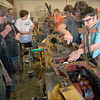 Project: Members of West Vigo's automotive technology class taught by Don Garzolini work on a tractor project that will eventually become an exhibit at the Terre Haute Children's Museum.