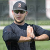 Stretch: Rose-Hulman's B.J. Zobrist does a stretching exercise at the start of practice Wednesday afternoon.