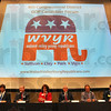 Elephant herd: Six of the eight Republican candidates for the eighth congressional district seat vacated by Brad Ellsworth took part in a forum at Ivy Tech Wednesday evening. From the left are: Bud Bernitt, Larry D. Bucshon, Kristi Risk, John Lee Smith, Dan Stockton and Steve Westell.