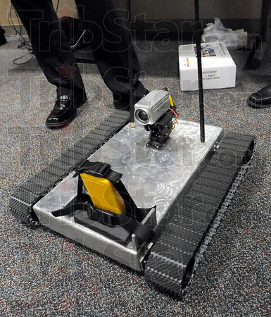 I robot: Rose-Hulman students built this prototype robot for the Vigo County Emergency Management unit.
