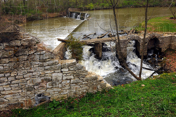 Hold the line: The Vigo County Parks department plans for the Markle Mill Dam are to hold the line. Keith Ruble hopes to be able to stabilize the banks of Otter Creek and prevent further erosion of the area.