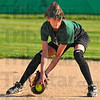 Look to second: West Vigo shortstop Cassidy Carlson looks to second base for a force out after gloving a ground ball.