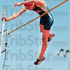 Tribune-Star/Joseph C. Garza<br /> He'll get over it: Terre Haute North's Jake Van Bever clears the bar during the pole vault competition of the Patriot Challenge Saturday at North.