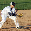 Hard hit: North's #17, Parker Fulkerson fields a hard-hit ball during early action against Rockville Monday evening.