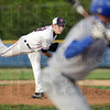 Heat: North's #29, Dalton Sexton fires a pitch to a Rockville batter during early inning action Monday evening.