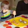 He chose pasta over ice cream cake
