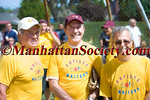 EAST HAMPTON-AUGUST 14: Rod Gilbert, Mort Zuckerman, Mike Lupica participate in 62nd Annual Artists & Writers Charity Softball Game on Saturday, August 14, 2010 at Herrick Park, East Hampton, New York   (PHOTO CREDIT: ©Manhattan Society.com 2010 by Gregory Partanio)