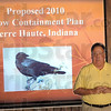 Something to crow about: John Hancewicz opens the meeting at Clabber Girl Thursday morning concerning the Crow Containment Plan for 2010.