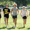 Team: Members of the North cross-country team warm up to start Wednesday's practice at Deming Park. They are (from left), Tyson Mundy, Brian Depasse, Milton Brinza, John Mascari and Dylan Bertsch.