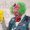 Clowning around: Harpo the clown entertains residents of Westminister Village Thursday. The character was a featured player on the Red Skelton Show.