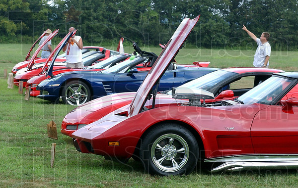 Good turnout: The Wabash Valley Corvette Club had a good turnout at the Wabash Valley Musicians Hall of Fame Jam and Picnic Sunday afternoon.