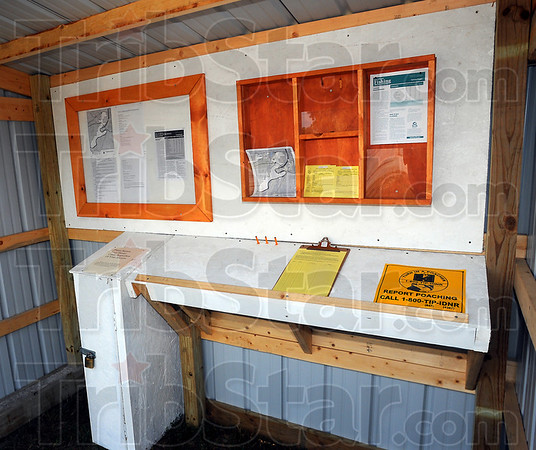 Do it yourself: A hunter check-in station is currently the only structure at the Wabashiki Fish and Wildlife area just east of West Terre Haute. By noon Sunday one small-game hunter had already taken advantage of the newly opened property.
