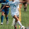 Tribune-Star/Joseph C. Garza<br /> Staying in the lines: Indiana State's Seyma Erenli keeps the ball in play as she maneuvers through the IPFW defense Sunday at Memorial Stadium.