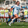 Tribune-Star/Joseph C. Garza<br /> Leading the charge: Indiana State's Jessica Rosenberg leads the offense through the IPFW defense during the Sycamores' 2-0 win Sunday at Memorial Stadium.