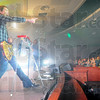 Into it: Guitarist Marc Lee gets the crowd fires up at the 3rd Day concert Friday evening.