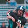 New QB: Viking quarterback Lance Garrett throws to the flat in first quarter action against Evansville Harrison.