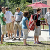 New arrivals: Students and parents arrive on the Rose-Hulman  campus Friday afternoon. Classes begin Monday.