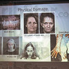 Powerful message: Before and after photos illustrate the ravages of methamphetamine use during a powerpoint presentation by State Police officials.