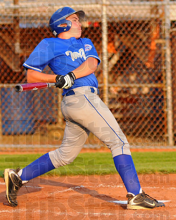 Gone: T.J. Collett watches his second inning homerun sail over the right field fence.
