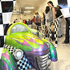 Checkered: A preview showing of Mini Car art attracted a large crowd of art lovers Friday evening to the Education Center of the Swope Art Museum.